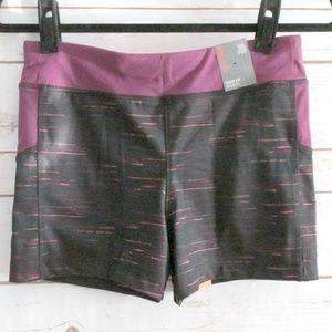 Primark Black Purple Slim Fit Running Shorts